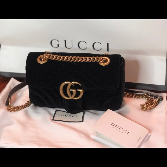 20330310fa7 Gucci Handbags - Small GG Marmont 2.0 Matelassé Velvet Shoulder Bag